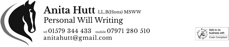 ANITA HUTT PERSONAL WILL WRITING